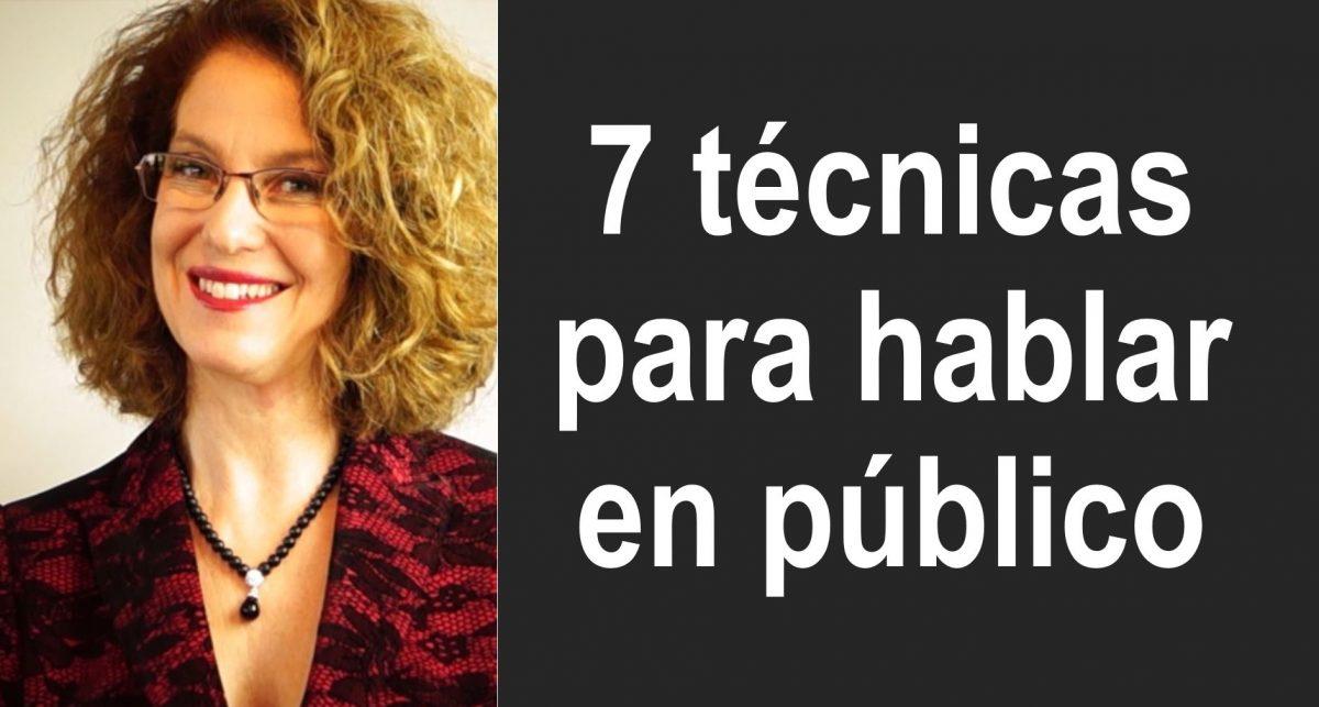 7 técnicas para hablar en público