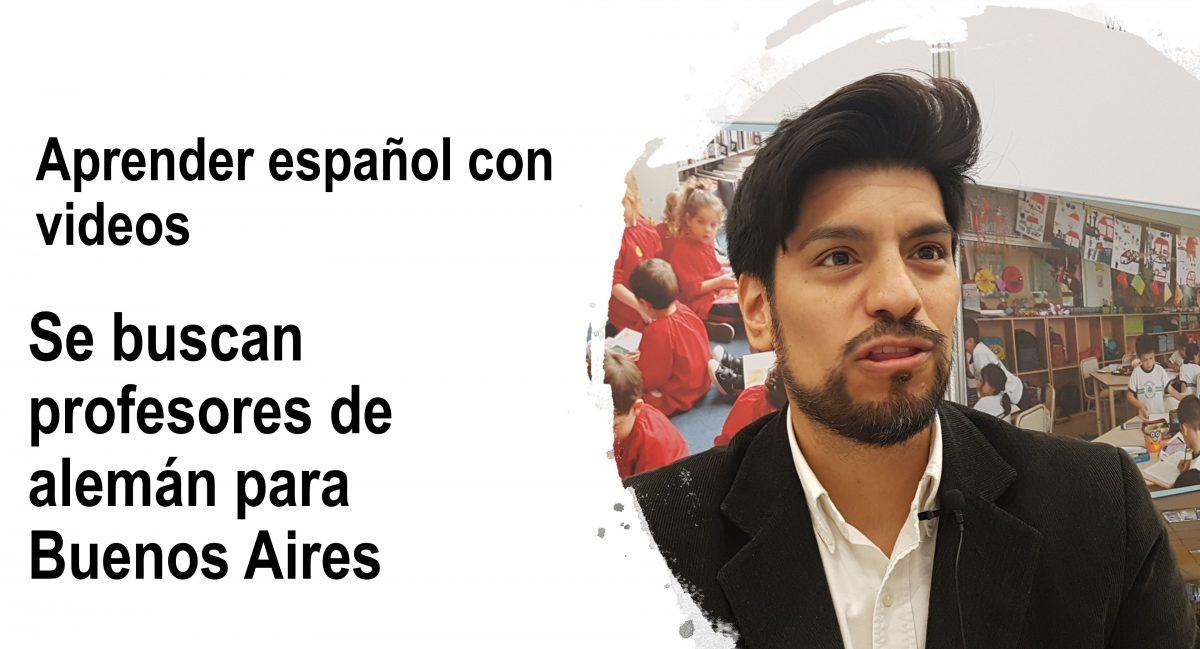 Aprender español: se buscan profesores de alemán para Buenos Aires