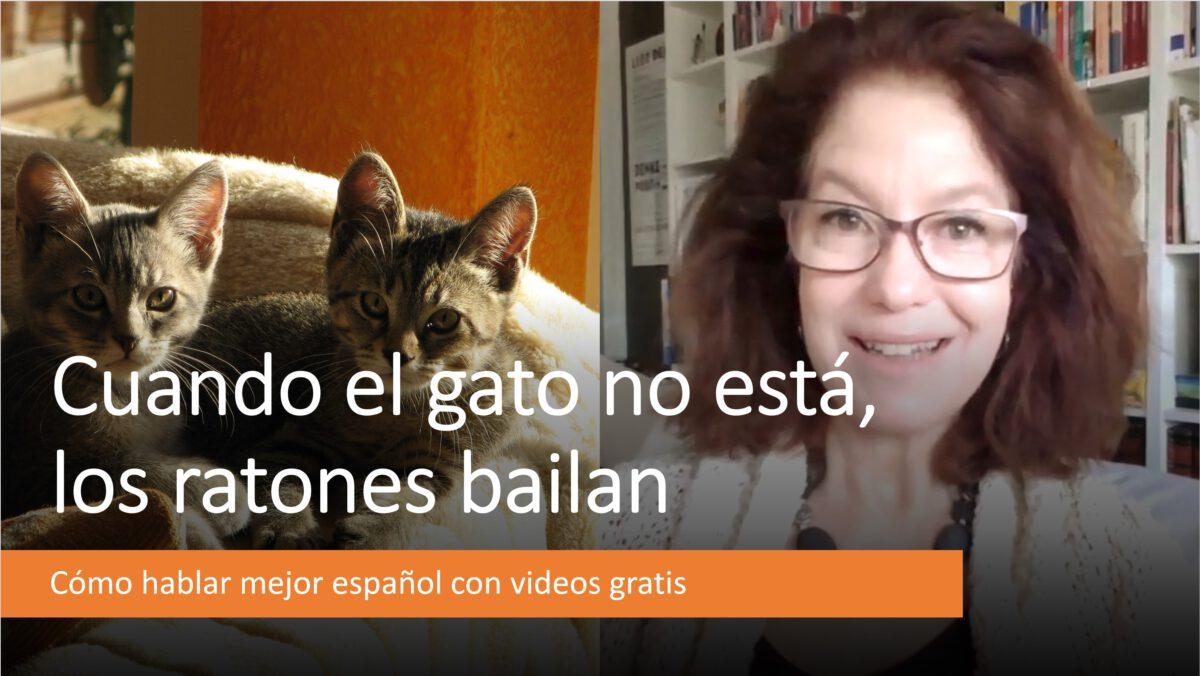 Cómo hablar mejor español: Cuando el gato no está, los ratones bailan