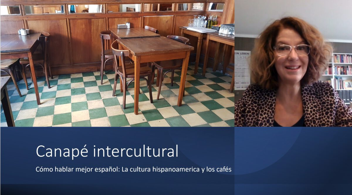 Cómo hablar mejor español: Canapé intercultural – La vida en el café